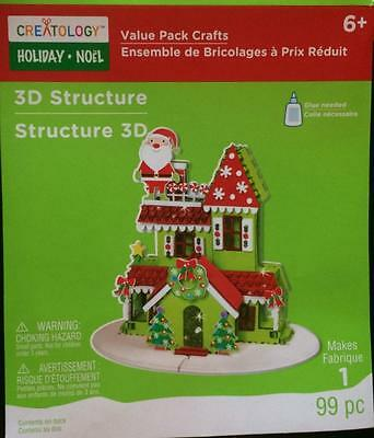 3D Structure Santa Roof NEW Creatology Holiday Craft Christmas Foam Ages 6+ DIY
