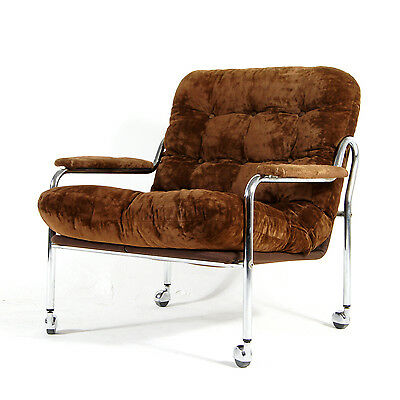 Retro Vintage Danish Bruno Mathsson Style Lounge Easy Chair Armchair 50s 60s 70s
