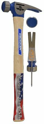 VAUGHAN CF2 19 oz. Milled Face Straight Claw California Framer Hammer, NEW, USA