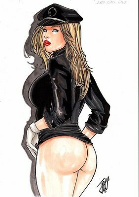DC Comics Sexy LADY BLACKHAWK Original Art BATMAN Birds of Prey Pilot BATGIRL