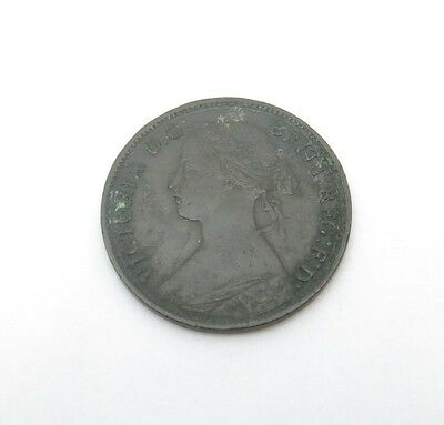1862 Great Britain Farthing Bronze Coin KM# 747.2