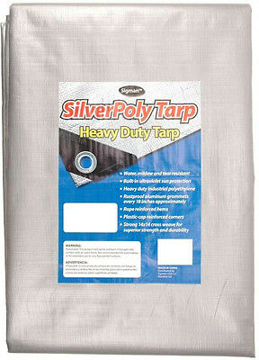 Tough Reinforced Sigman 20 x 30 Silver Heavy Duty Poly Tarp Cover Canopy