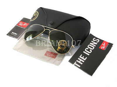 New Mens Sunglasses Ray-Ban RB3025 Lens 55mm Aviator Gold