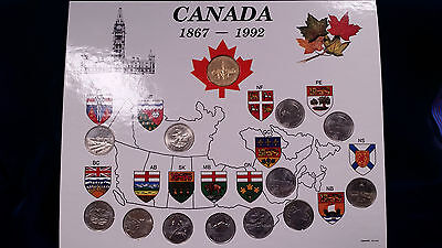 1992 Complete Canada Province Quarter Collection **With Bonus Loonie**