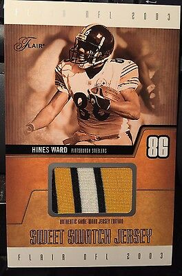 Hines  Ward L/e Swatch Jersey Card And Signed Glove Pittsburgh Steelers