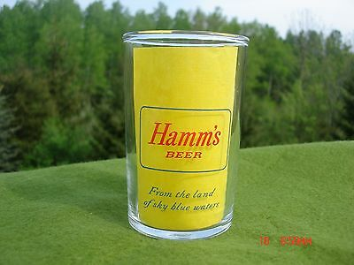 Vintage Hamm's Shell Beer Glass St.paul From The Land Of Sky Blue Waters Minneso