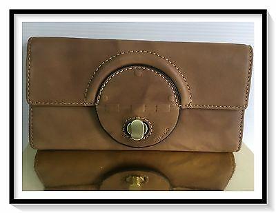 Mimco Leather PLATEAU LARGE Wallet Clutch Purse BNWT RRP$199 Honey