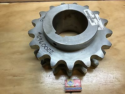 Double Roller Chain Sprocket Large 17 T  NEW 12 inch Stainless Steel