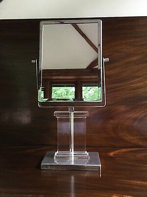 art deco chrome and perspex mirror
