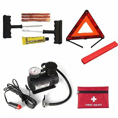 Auto Car Triangle Warning Sign + First-aid Kit + Tire Repairing Tool Sécurité GA