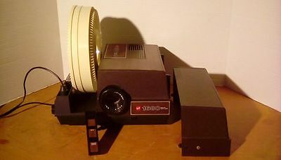 GAF 1680 Slide Projector with Remote and Tray! Fully Tested, Works Great! Clean!