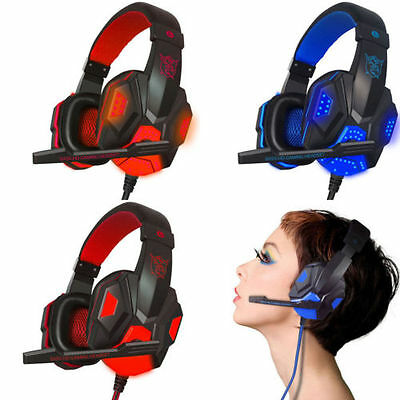 3.5mm Surround Stereo Gaming Headset Headband Headphone with Mic for PC LOT SK