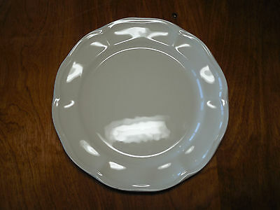 "Secla Basics & Beyond Portugal Cream Set of 6 Salad Plates 8 1/2"" Scalloped"