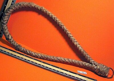 Vintage Hand Plaited Heavy All Rawhide Full Horse Size Riding Bosel MAKE OFFER