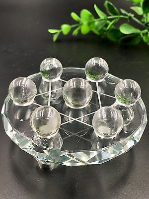 Natural clear Quartz Crystal healing Reiki Ball With Plate Seven Star Array*4348