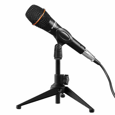 Adjustable Metal Desktop Table Mic Microphone Clamp Clip Holder Stand Tripod FLY