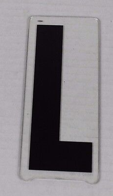 Vintage Gemini Marquee Sign Display Letter 6'' In ''l'' L Movie Theater Plastic