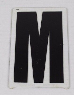 Vintage Gemini Marquee Sign Display Letter 6'' In ''m'' M Movie Theater Plastic