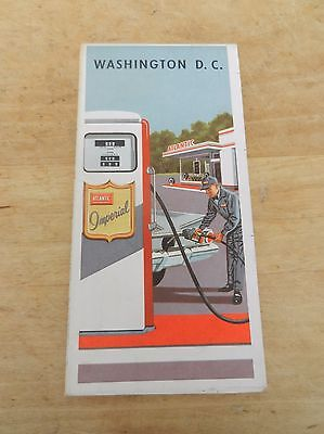 1961 ATLANTIC IMPERIAL Gas Station Road Map Washington D C Atlantic Refining Co
