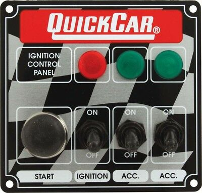 QUICKCAR RACING PRODUCTS 4-5/8 x 4-3/8 in Dash Mount Switch Panel P/N 50-025
