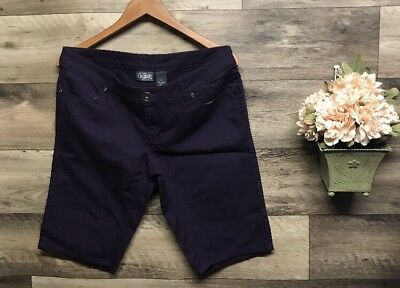 New Juniors City Streets Sz 11 Purple Long Shorts Bermuda