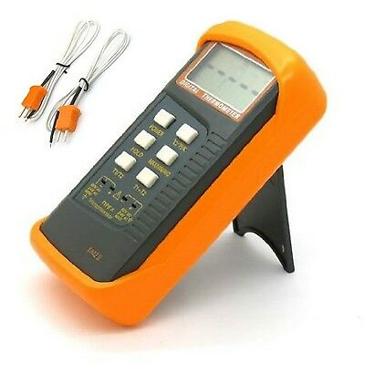 WINGONEER Dual Channel Digital Thermometer with 2 K-Type Thermocouple Sensor ...