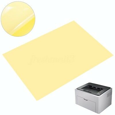 5-50X Clear A4 Film Sheet Self Adhesive Printer Sticker Paper For Laser Printer