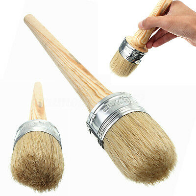 50mm Wooden Handle Round Bristle Chalk Oil Paint Painting Wax Brush Artist