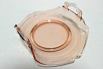 """Antique Dainty Dish With Handles For Food Or Other   7"""" X 5-3/4""""  Pink   Item#pc"""