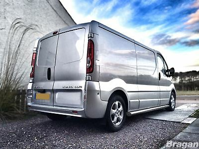 To Fit 02 - 14 Renault Trafic SWB Stainless Steel Side Bars Steps Tubes Skirt