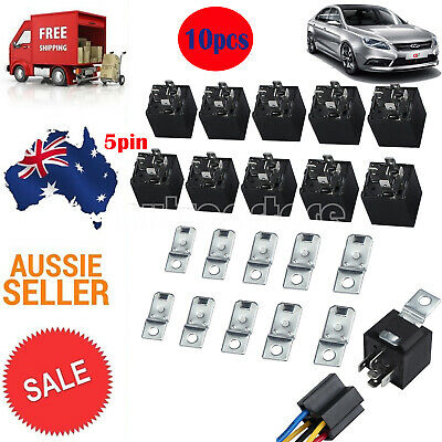 5 Set 12 Volt DC 40A AMP Relay SPDT 4 Pin With Harness Socket For Car Auto Truck