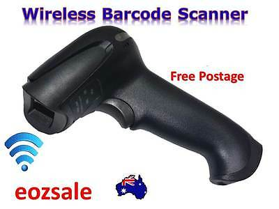 400m Wireless Laser Barcode Scanner Reader Portable Handheld Cordless USB Charge