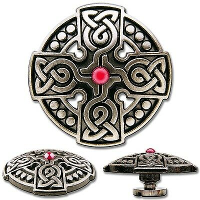 Celtic Cross No. 1 Screwback Concho Decorative Screw Back Rivet