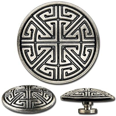 Celtic Key Pattern Screwback Concho Decorative Screw Back Rivet 1