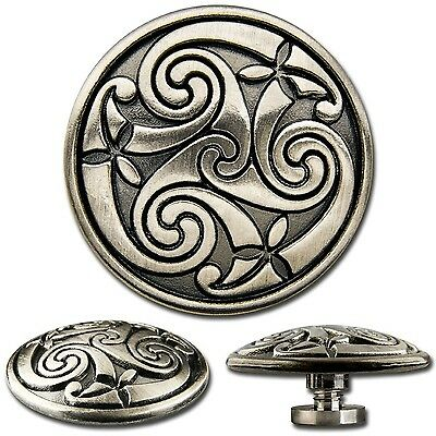 Celtic Spiral Screwback Concho Decorative Screw Back Rivet 1