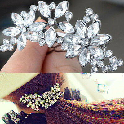 Hot Women Hairpin Flower Rhinestone Hair Clip Headwear Hair Accessories Jewelry