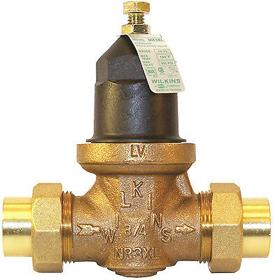 "3/4"" Water Pressure Reducing Valve Potable Line Lead-Free Bronze Finish 400 PSI"
