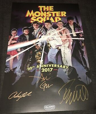 The Monster Squad Tour 30th Anniversary Poster SIGNED Alamo Drafthouse