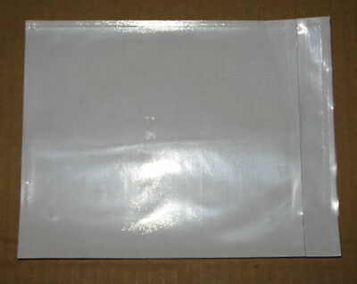 50 pcs Clear Blank Invoice Document Envelope Sticker Pouch White Back 115x150mm