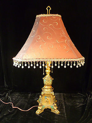 Incredible Egyptian Revival Table Lamp W/ Winged Griffins Sphinxes - Circa 1925