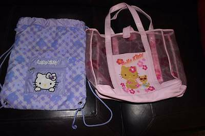 Lot Of 2 Sanrio Hello Kitty Tote/shoulder Bags