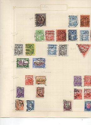 Collection Of Postage Stamps: Latvia 1920/1927
