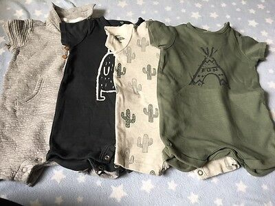 4 Next Baby Playsuits / Rompers 3 - 6 Months. All worn once, Excellent condition
