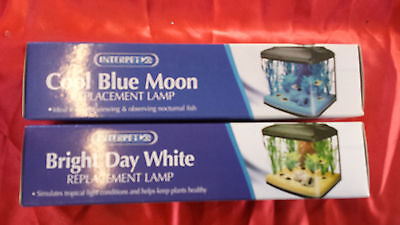 2 x Interpet Cool Blue + Bright Daylight Replacement 15w Bulbs for pod aquariums