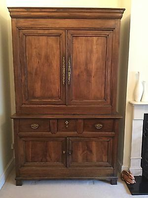 Large Vintage French Linen Press