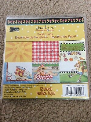 "Mary Engelbreit Scrapbook Paper 6""x 6"" 12 Sheets Each Package"