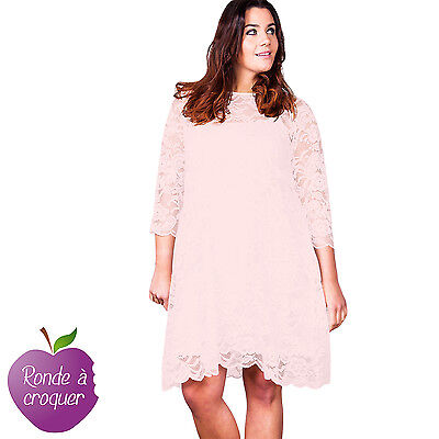 39ccbad834d GRANDE TAILLE - Robe patineuse bleue style Bardot Lili London 44 46 ...