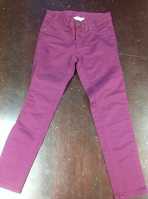 Lands End Kids Girls Purple Skinny Jeans Size 7