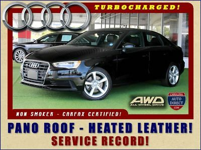 2016 Audi A3 Sedan 2.0T Premium QUATTRO AWD - TURBO - HEATED LEATHER! 2016 Audi A3 Sedan 2.0T Premium QUATTRO AWD - TURBO - HEATED LEATHER! Black Seda