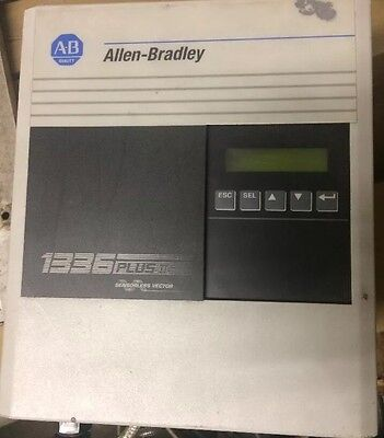 ALLEN BRADLEY 1336 PLUS II AC DRIVE With Filter And Encoder 1336F BRF15 AE EN